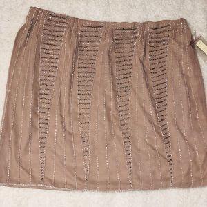 Taupe beaded skirt